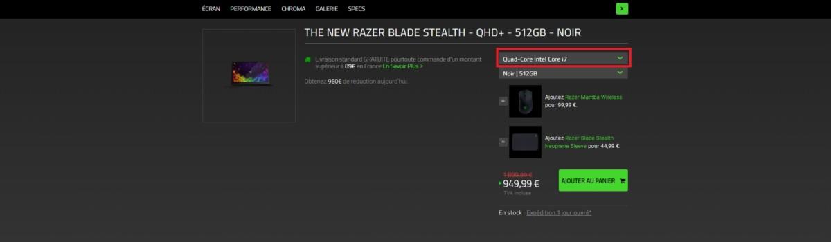 L'ultrabook Razer Blade Stealth V4 à moitié prix, soit 950 euros d'économie
