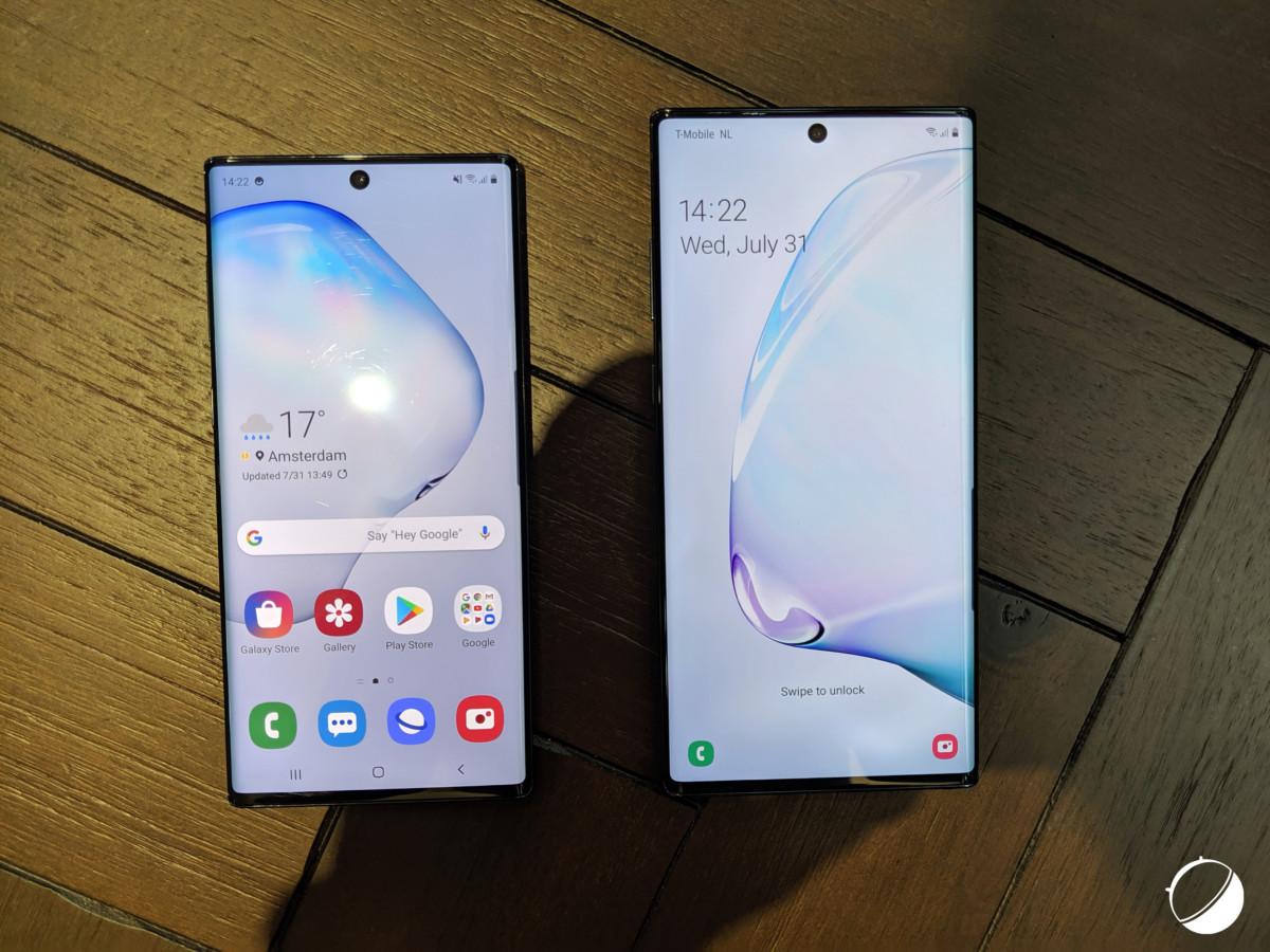 Les Galaxy Note10 et Note10+