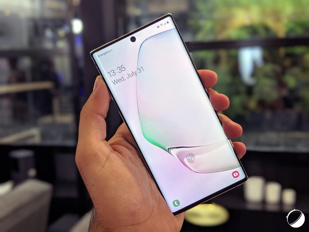 Le Samsung Galaxy Note 10, écran verrouillé
