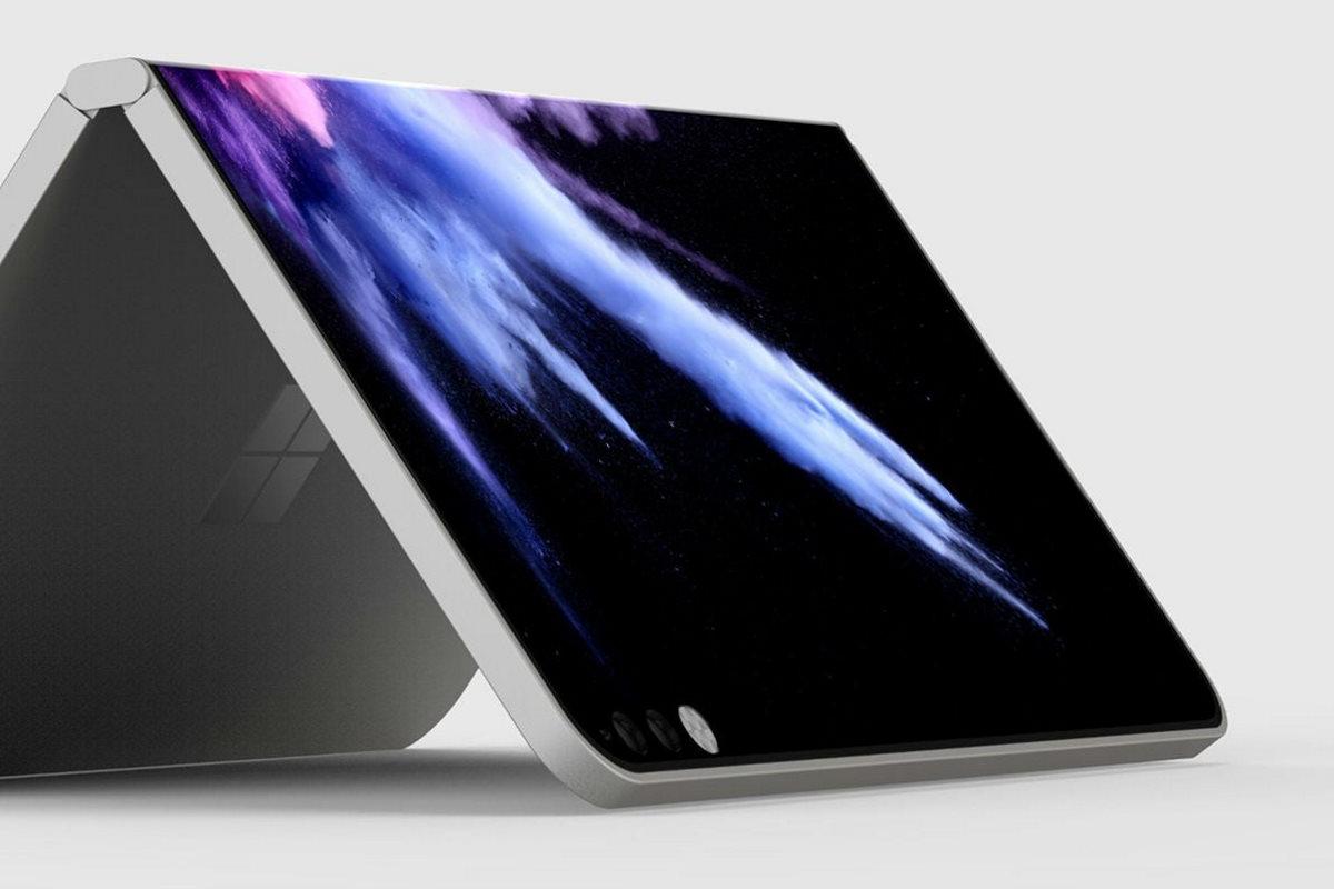 Microsoft Surface : un brevet illustre la charnière à liquide de la tablette pliable
