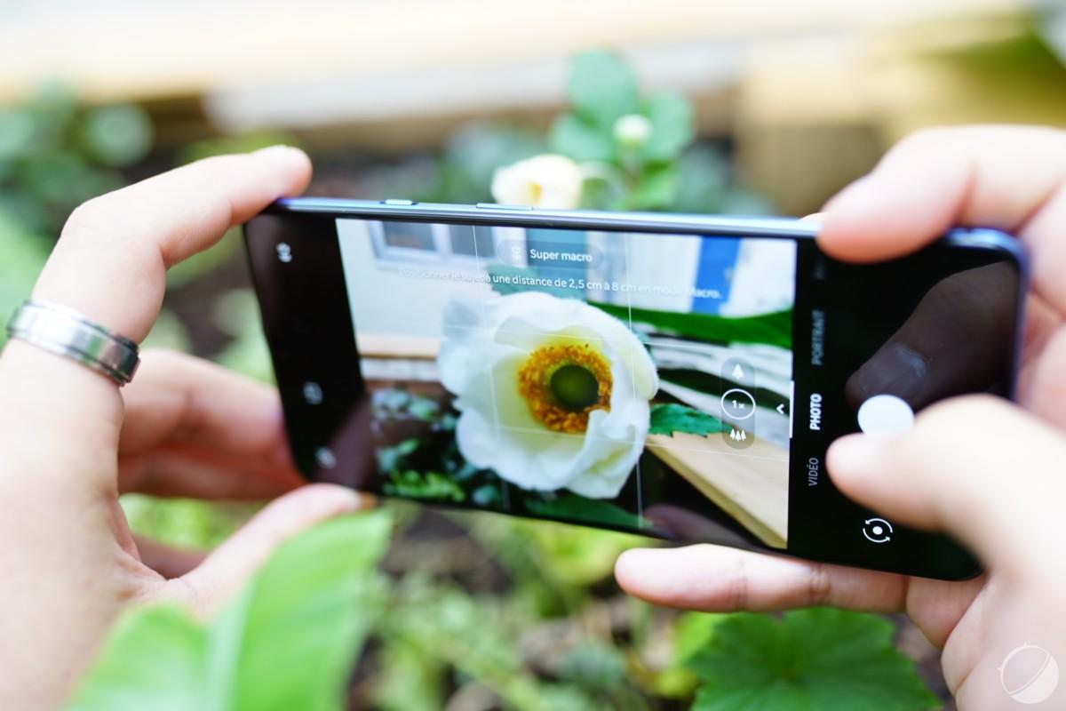 Mode macro du OnePlus 7T