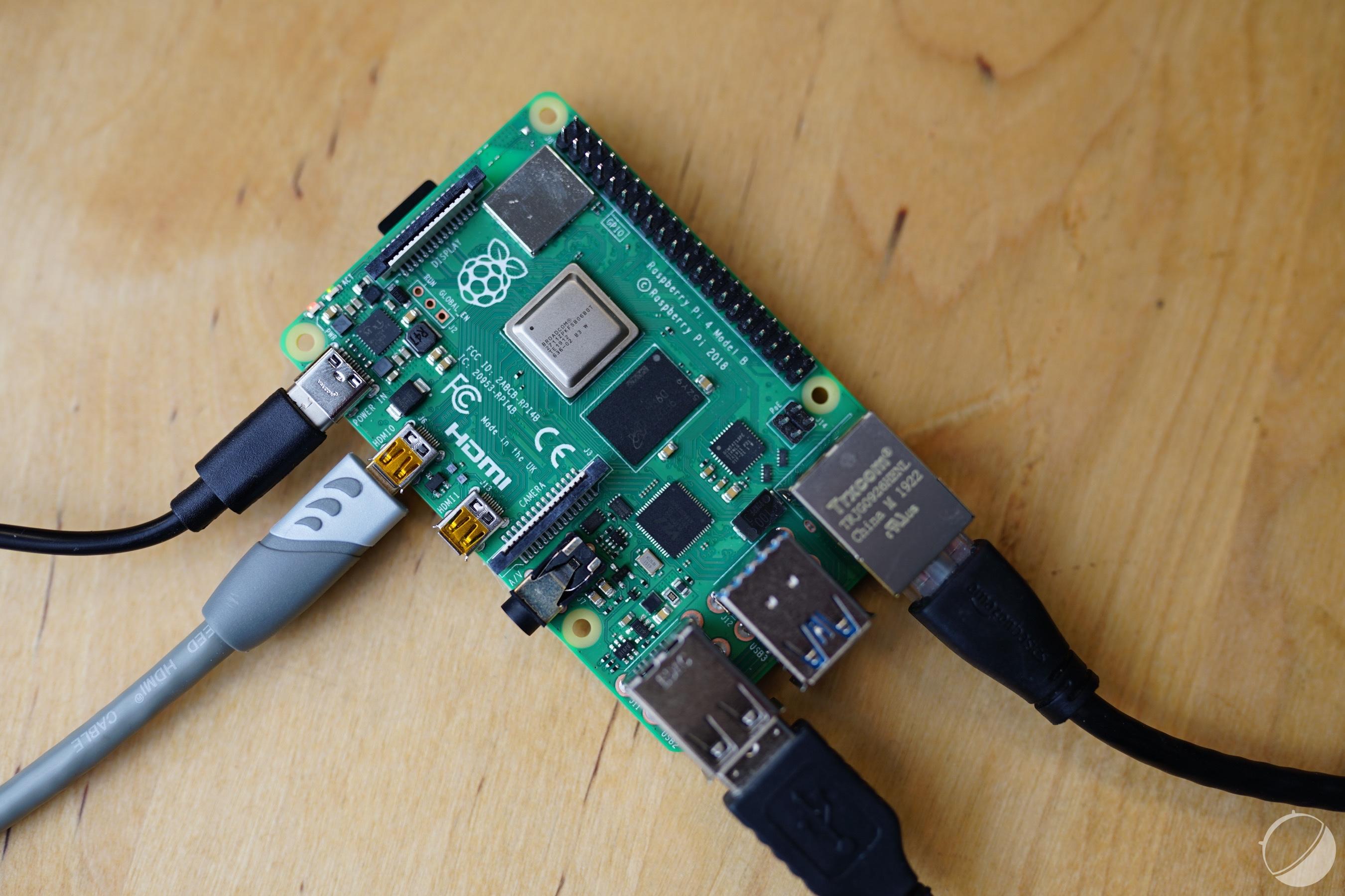 Ici le Raspberry Pi4, pour illustration
