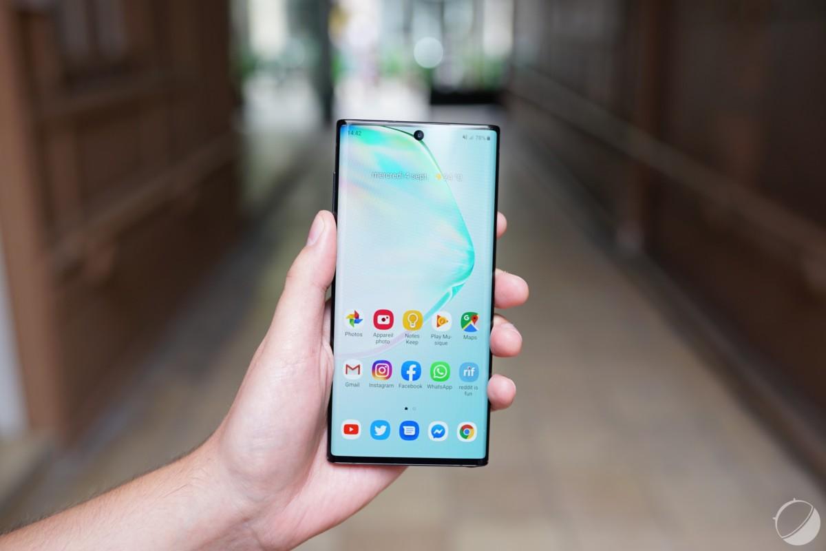 Le Samsung Galaxy Note 10 pour illustration