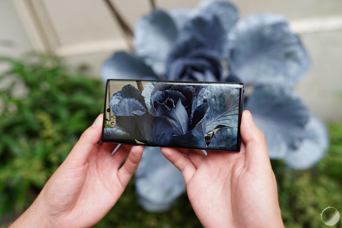 L'écran du Galaxy Note 10