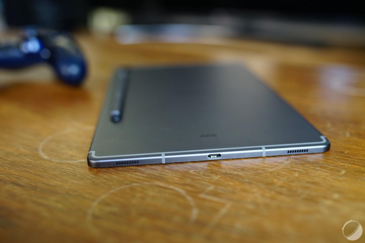 Tranche inférieure de la Galaxy Tab S6