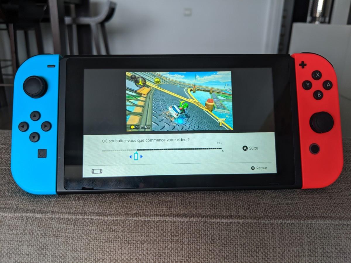 Modification de vidéo sur Nintendo Switch