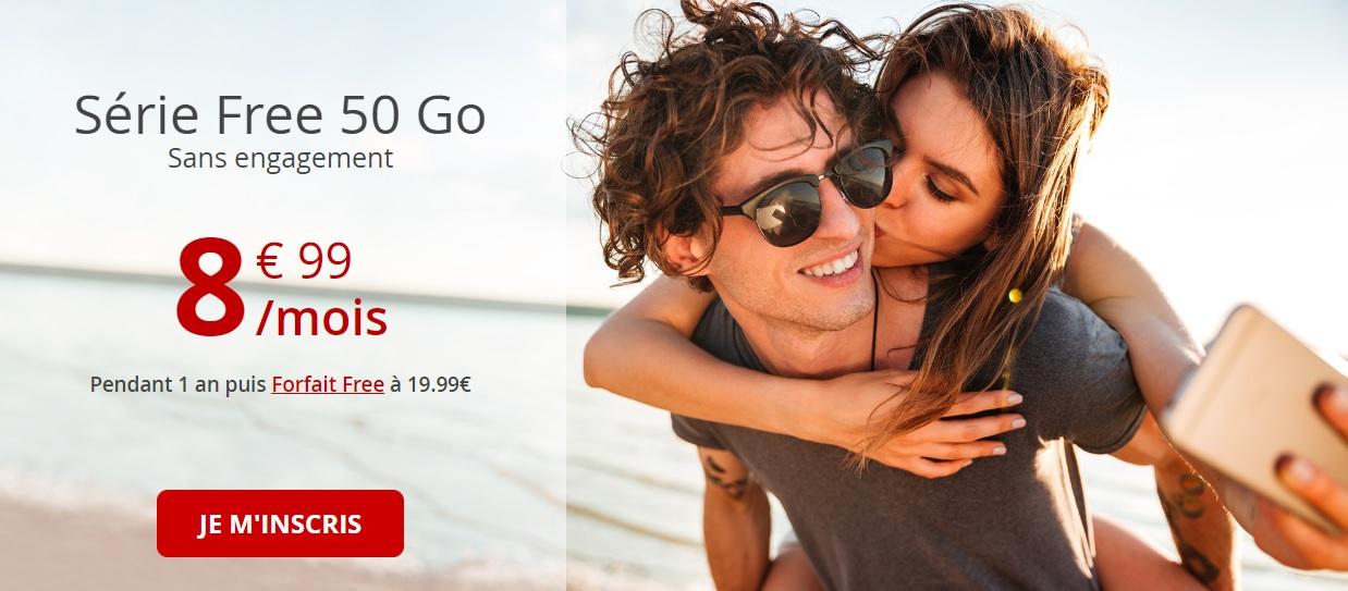 Forfait mobile : Free relance son offre 50 Go pour 8,99 euros par mois