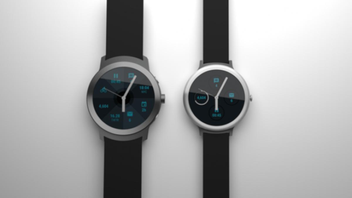 Les montres connectées Google de 2016, telles qu'elles avaient fuité à l'époque.