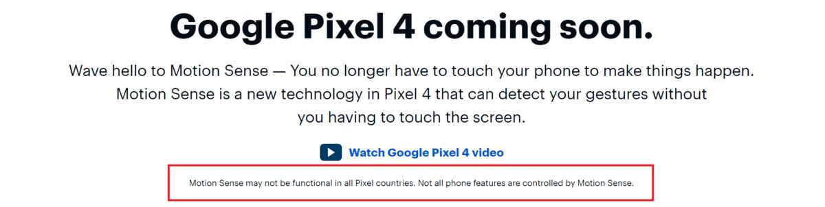Google Pixel 4 : la reconnaissance de gestes serait indisponible dans certains pays