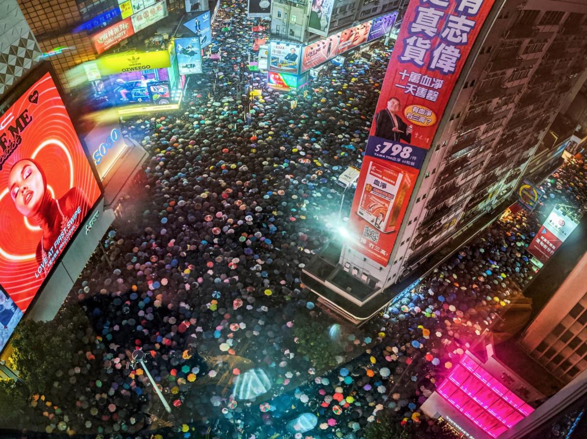 Des manifestations à Hong Kong en août 2019. Crédit : Studio Incendo // Flickr
