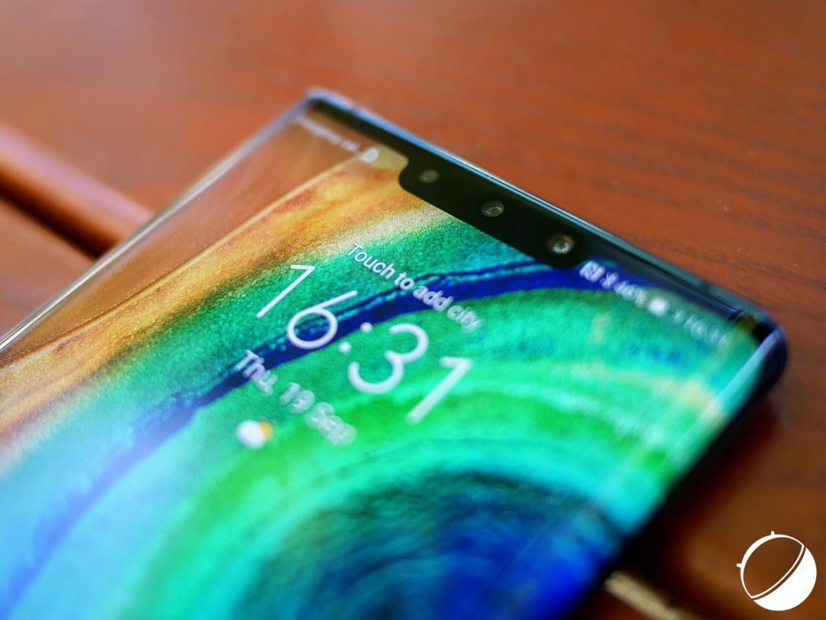 L'encoche du Huawei Mate 30 Pro