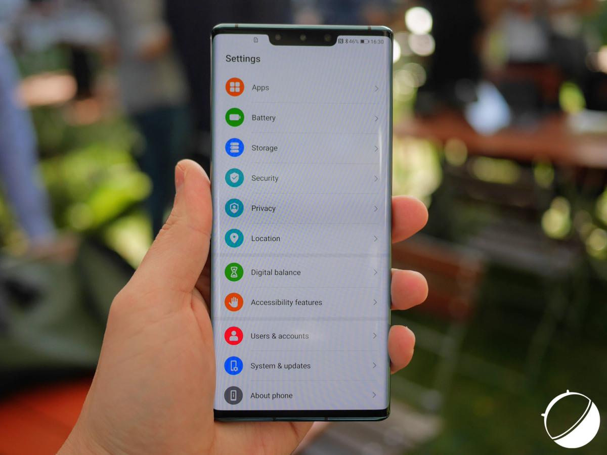 Le Huawei Mate 30 Pro, sous EMUI 10