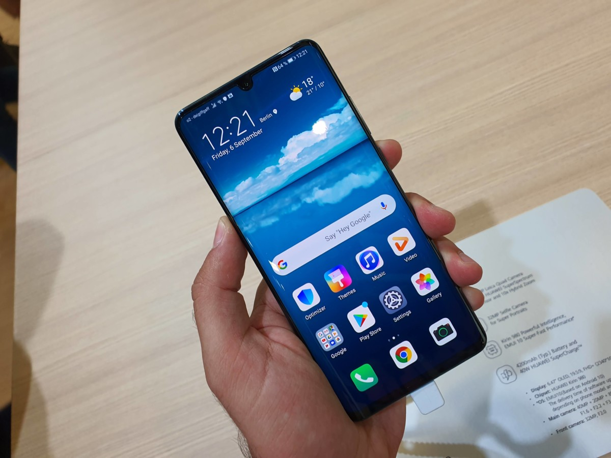 Le Huawei P30 Pro sous Android 10