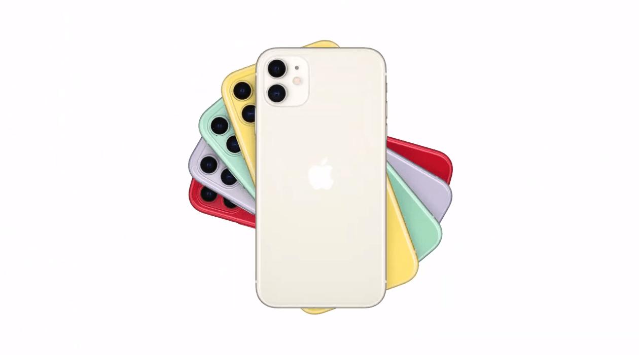 Les coloris de l'iPhone 11