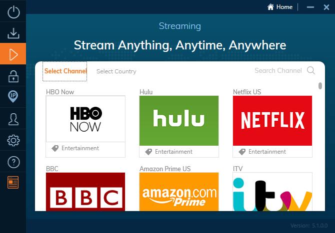 Ivacy VPN propose des serveurs spécialisés dans le streaming au sein de son client. Il suffit de les choisir pour accéder directement au catalogue US de Netflix ou Amazon Prime Video.