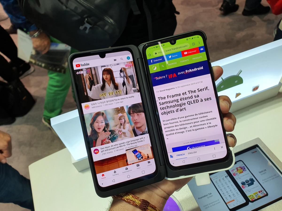Le LG G8X, pour illustration