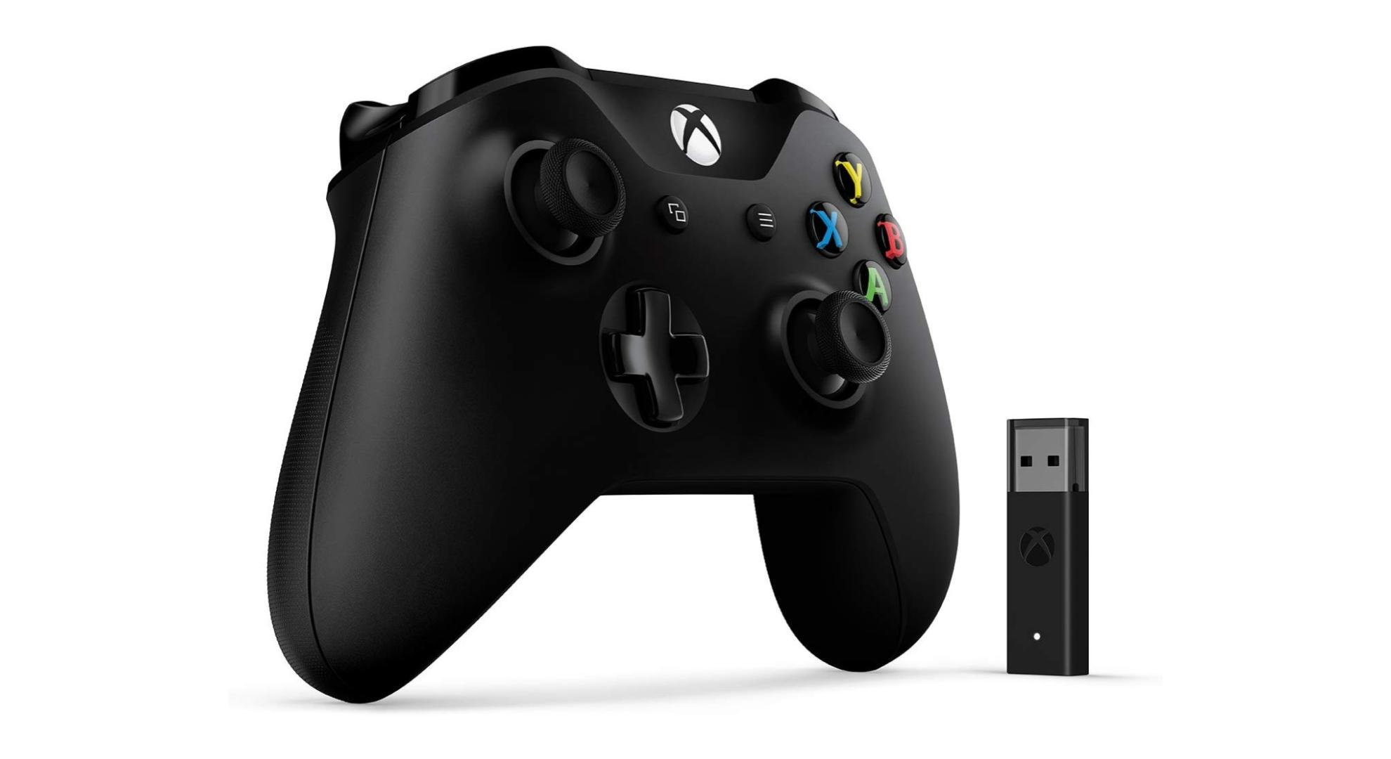 Manette Xbox One + adaptateur sans fil à 44 €