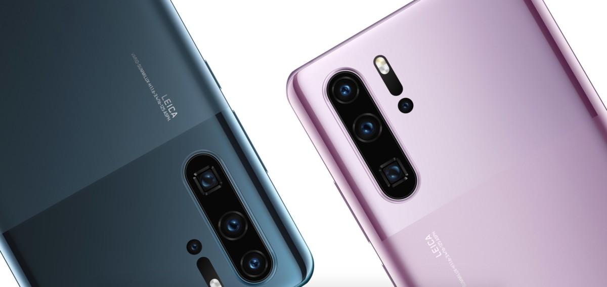 Les nouvelles finitions des Huawei P30