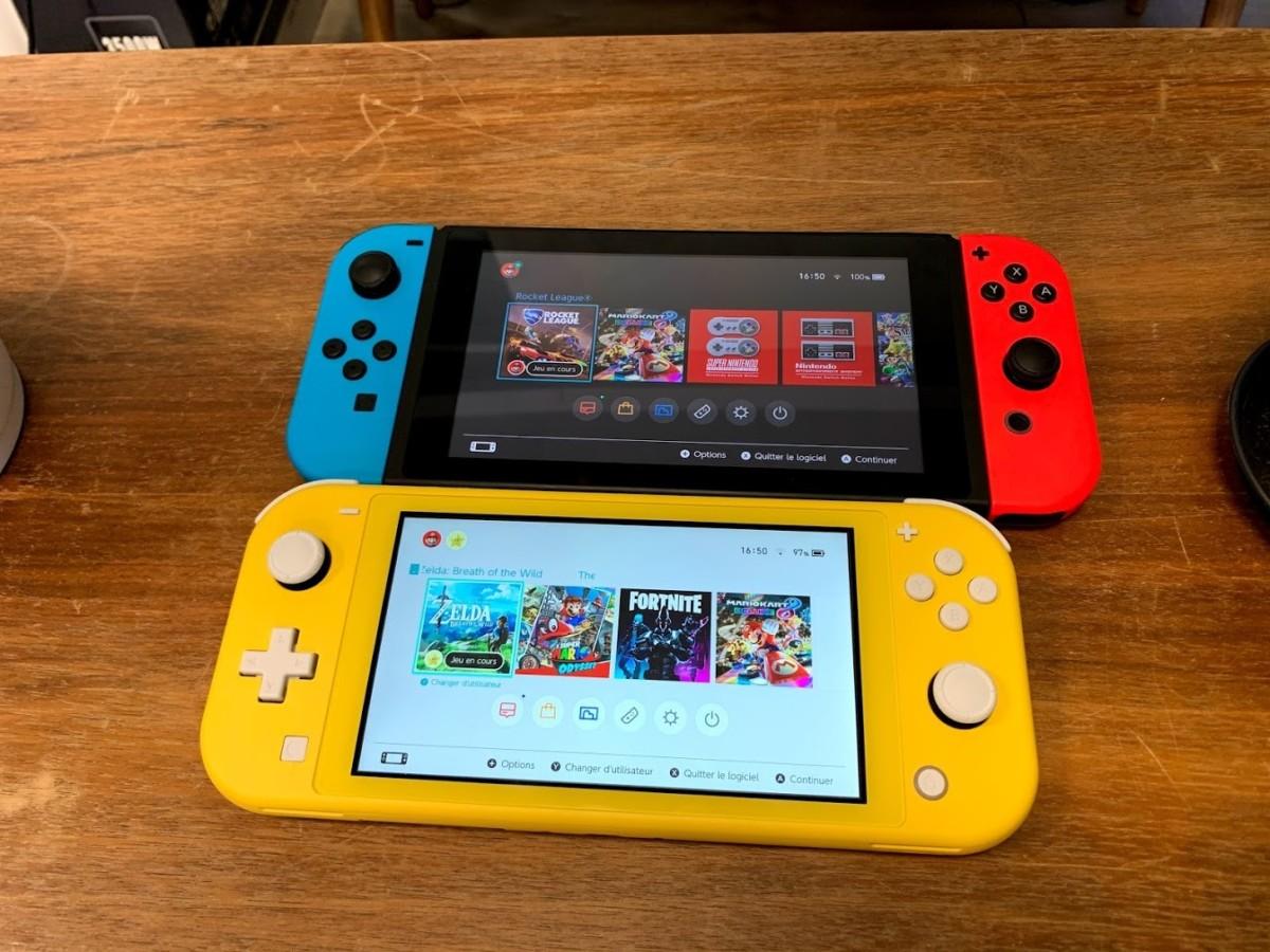 Nintendo Switch et Switch Lite