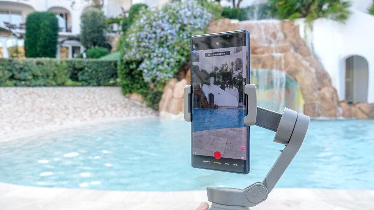 Galaxy Note9 sur l'Osmo Mobile3