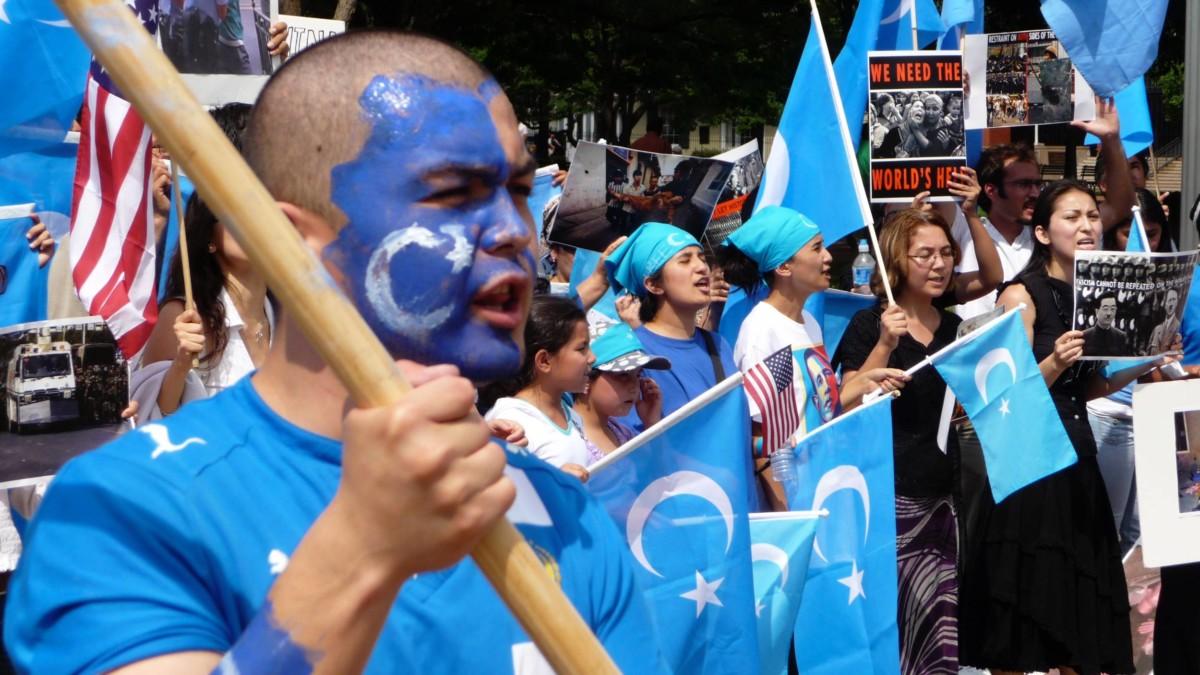 Une manifestation ouïghoure à Washington en 2009. Crédit : Malcolm Brown // Flickr