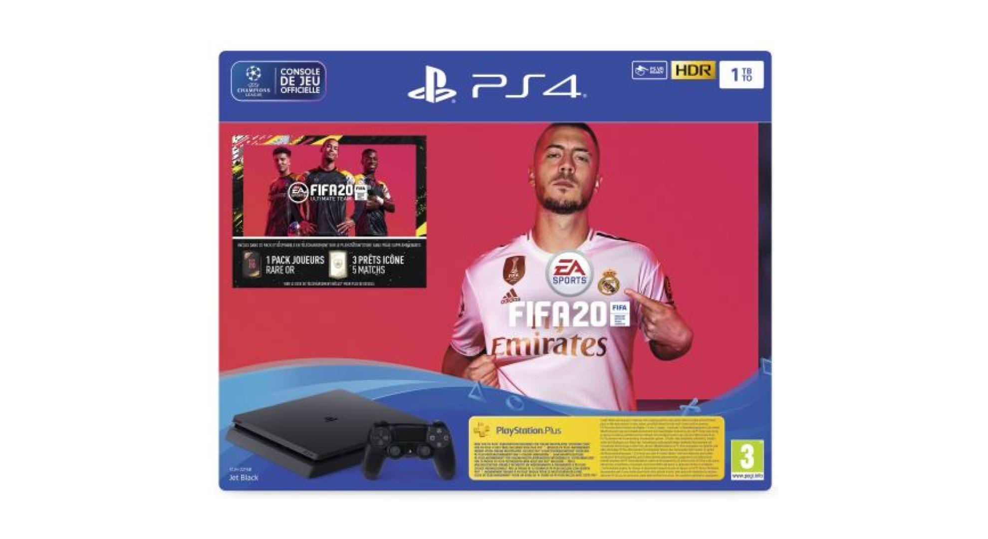Pack PS4 + FIFA 20 à 299 €
