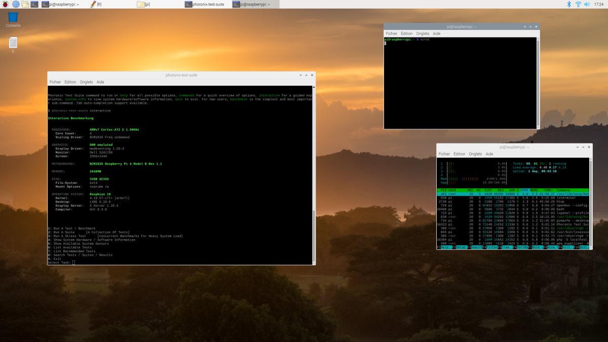 L'interface de Raspbian, le système d'exploitation conseillé pour le Raspberry Pi