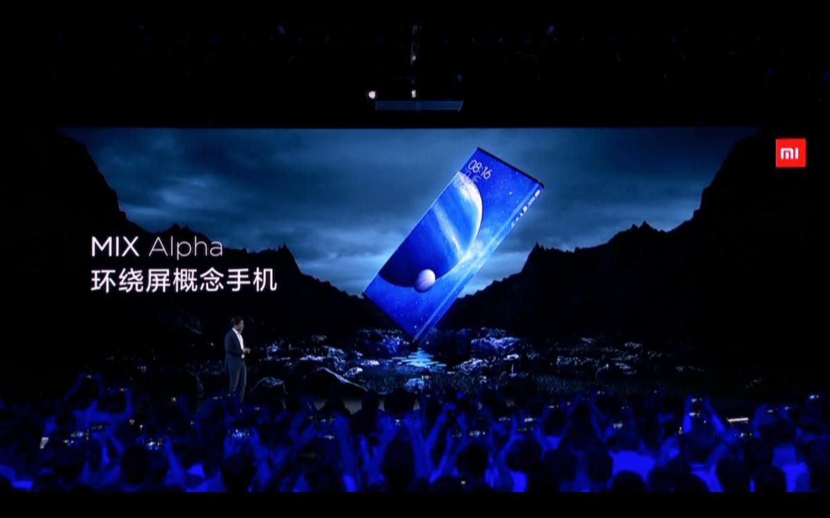 Xiaomi Mi Mix Alpha officialisé : l'écran fait le tour du smartphone