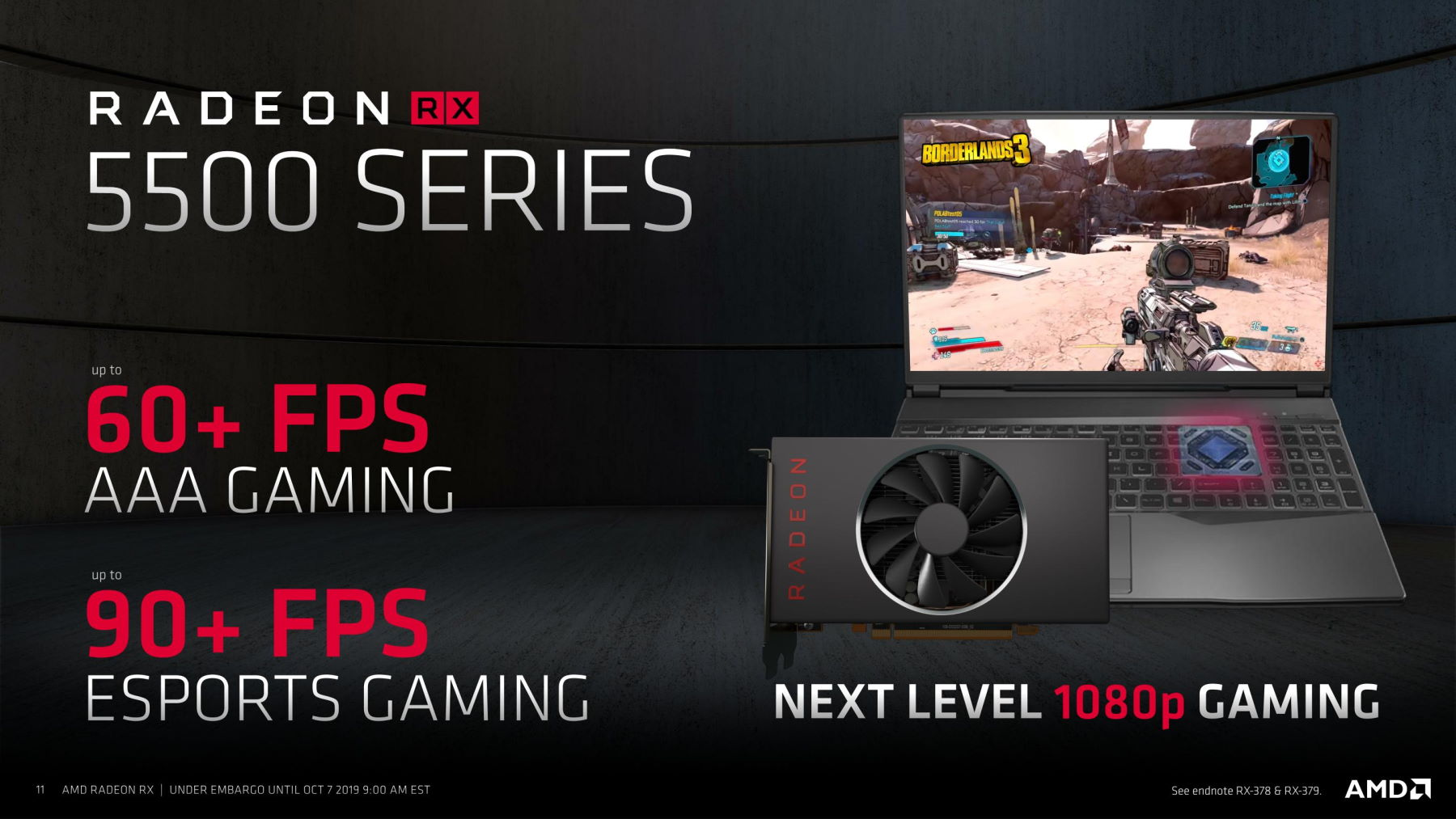 AMD lance la Radeon RX 5500 : une puce graphique puissante et économe en énergie