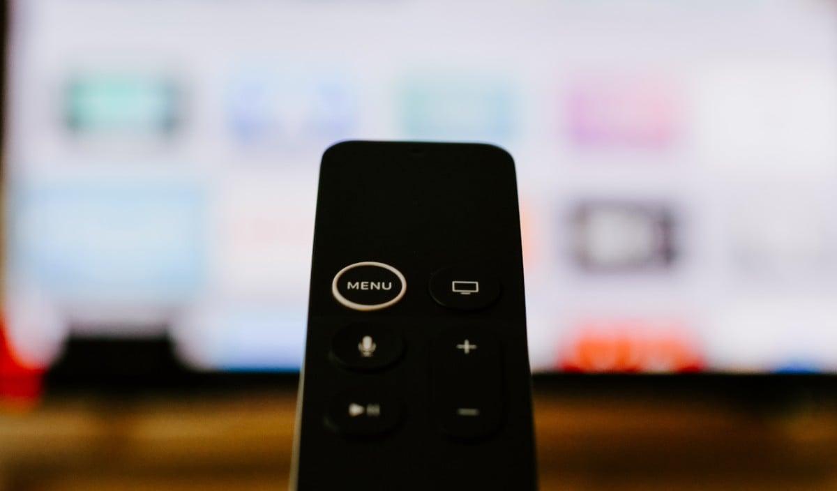 La télécommande de l'Apple TV