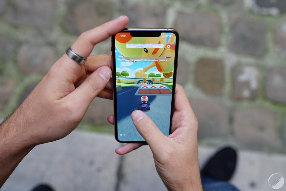 Mario Kart Tour sur iPhone 11 Pro Max
