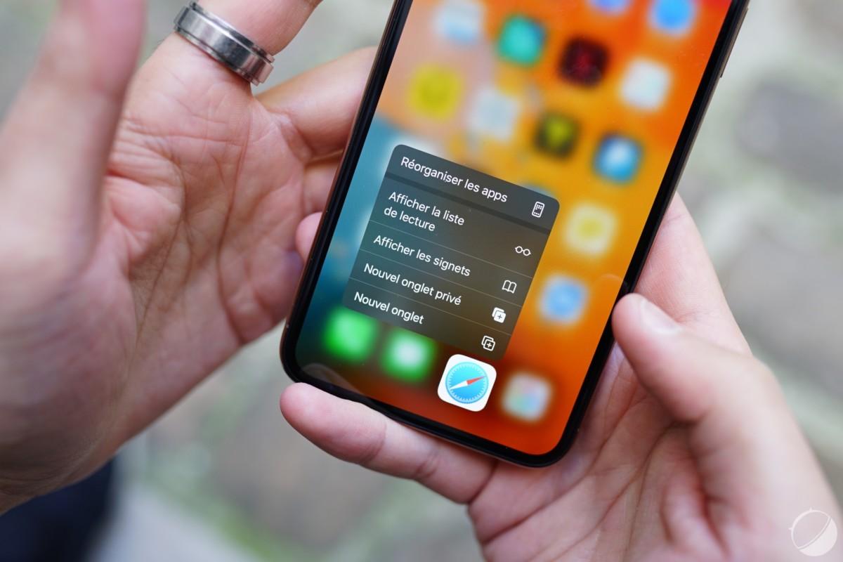 Menu contextuel des applications sur iPhone 11 Pro Max