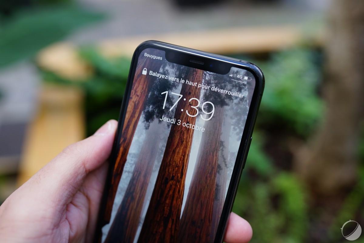 L'encoche de l'iPhone 11 Pro