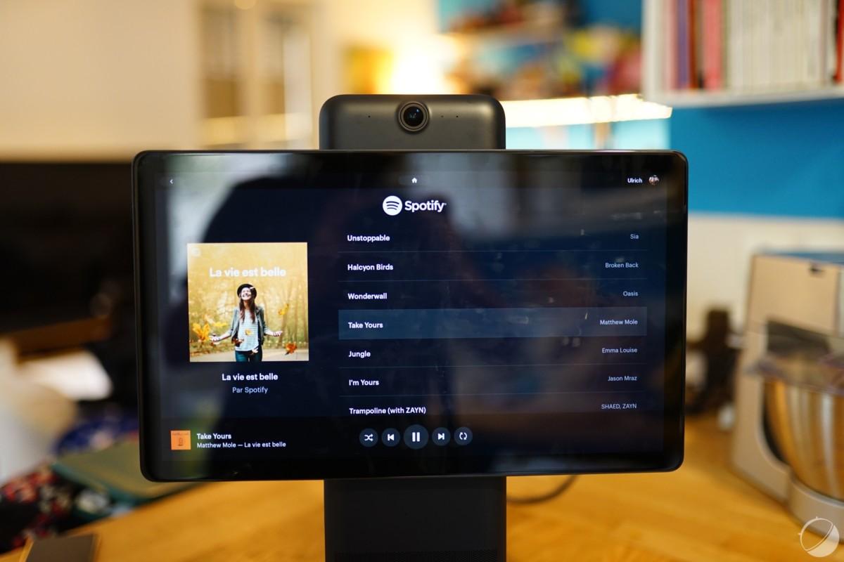L'application Spotify native, espérons que davantage d'apps natives fassent leur apparition