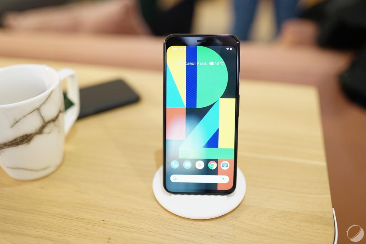Le Pixel 4 sur son stand