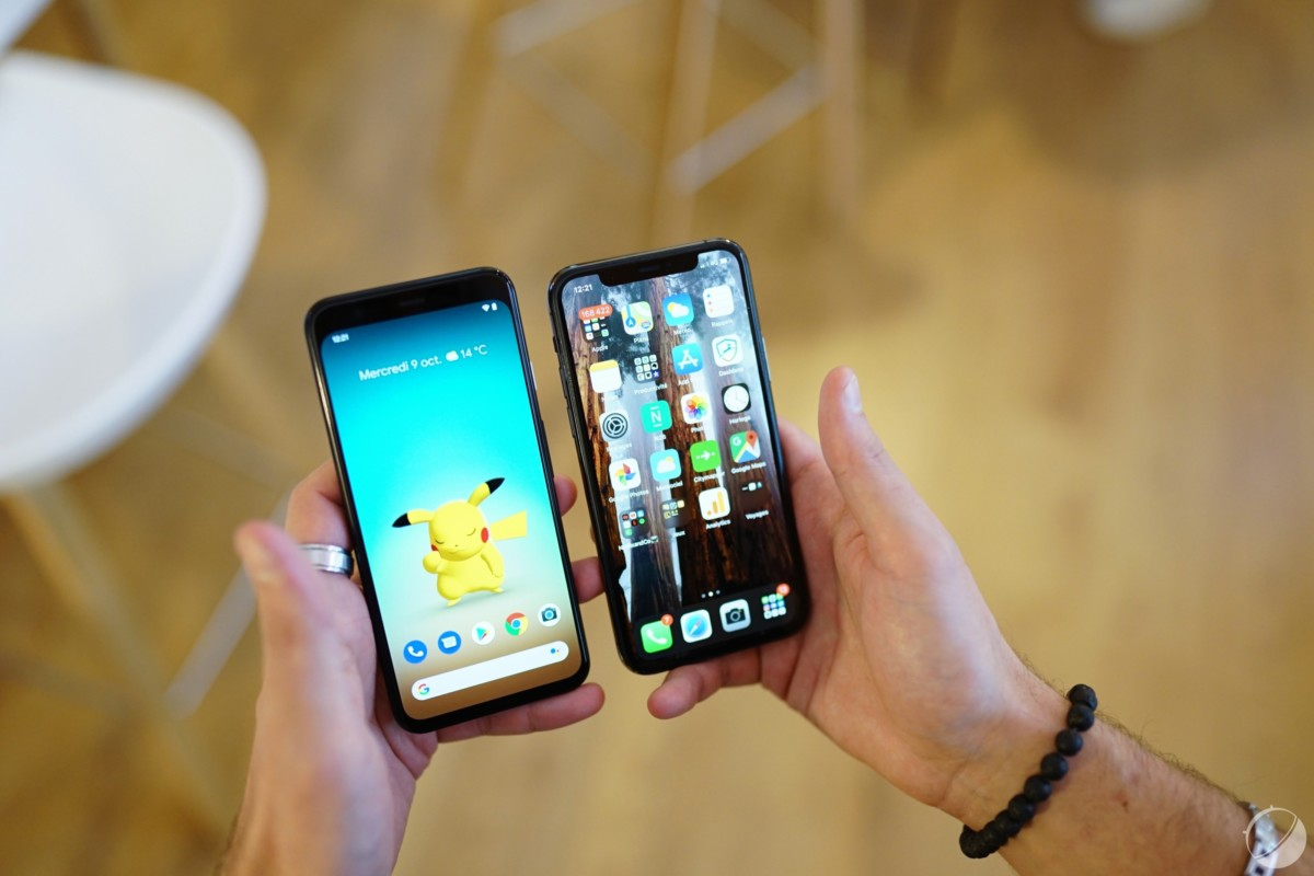 Pixel 4 et iPhone 11 Pro