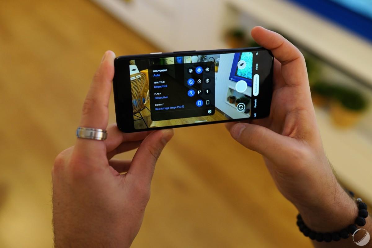 Google Pixel 4, interface photo