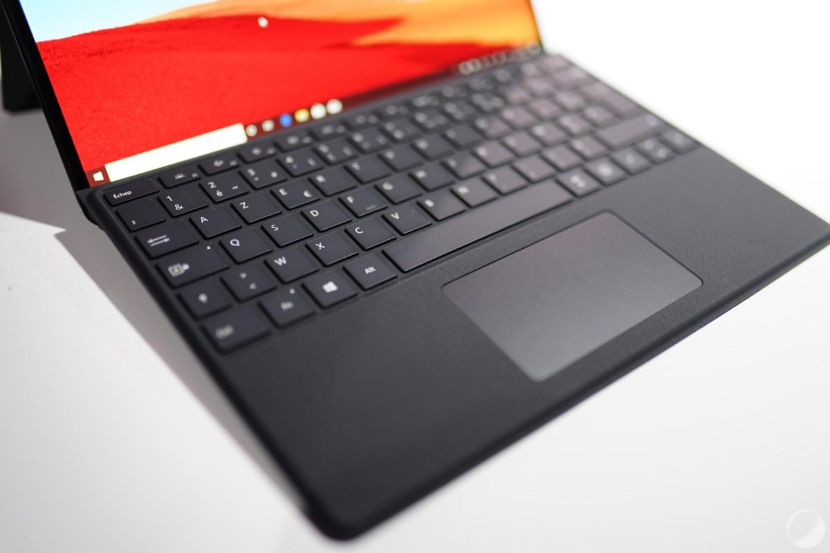 Clavier de la Microsoft Surface Pro X