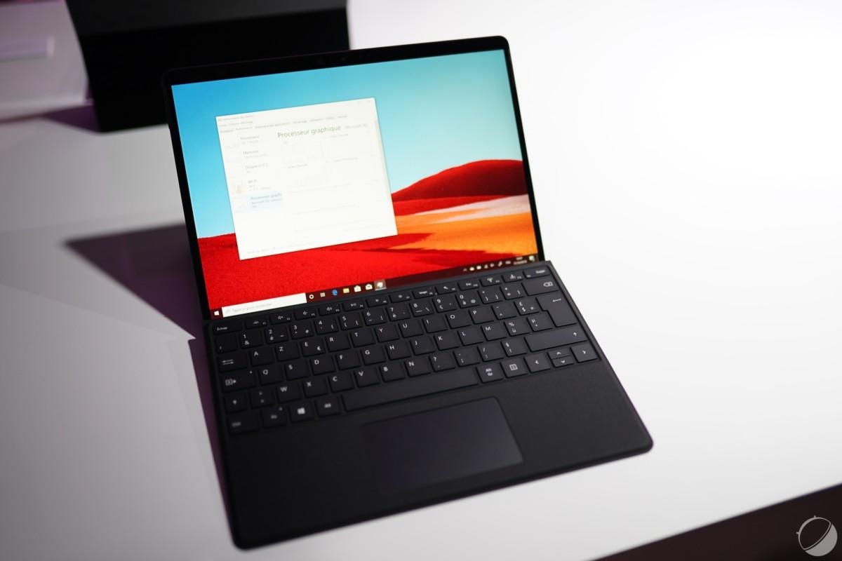 Le clavier d'une Surface Pro