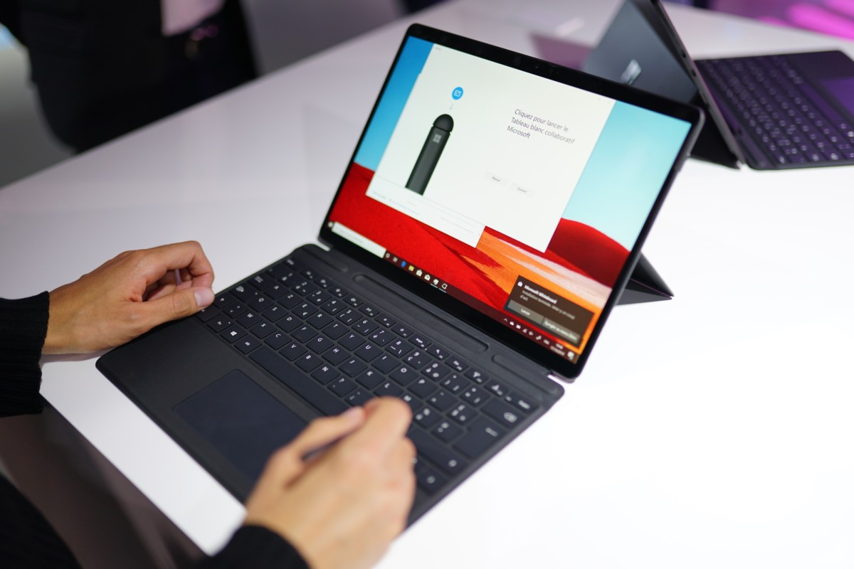 Surface Pro X, a Microsoft tablet equipped with an ARM processor