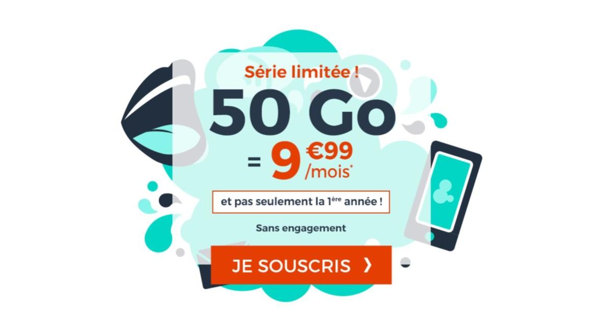 Un forfait mobile 50 Go pour 9,99 euros/mois à vie, qui dit mieux ?