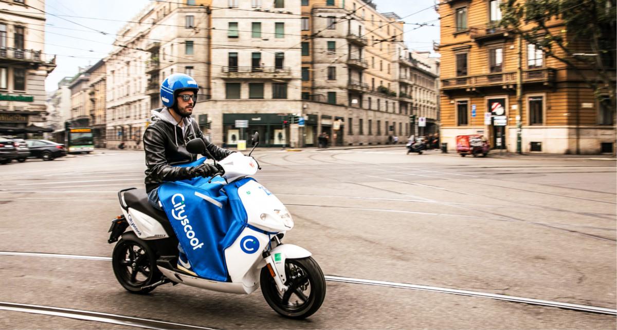 Scooter électrique du service Cityscoot