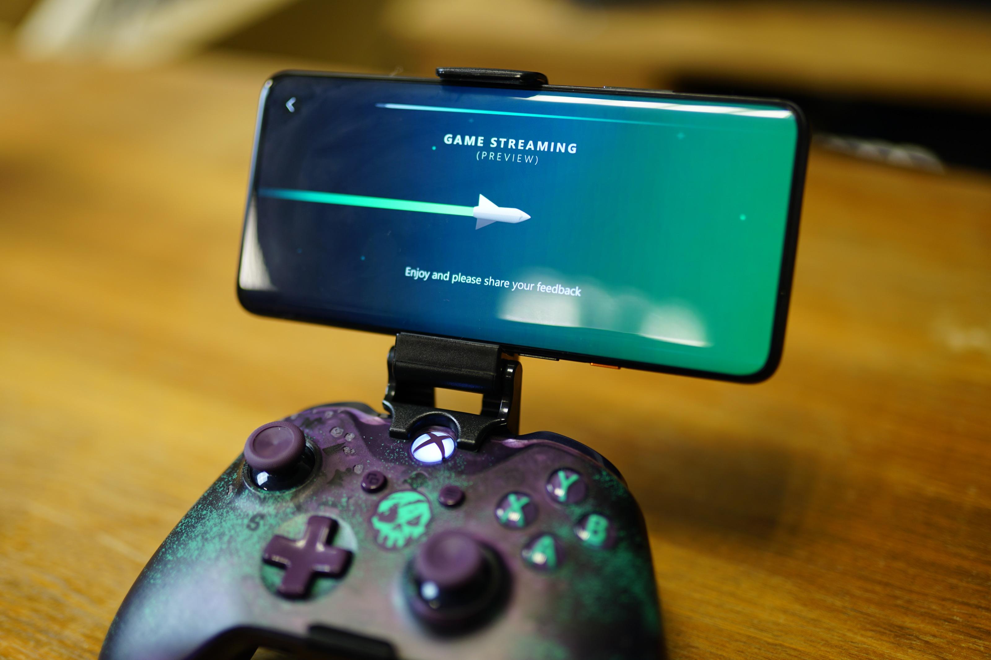 L'écran de chargement d'un jeu sur xCloud