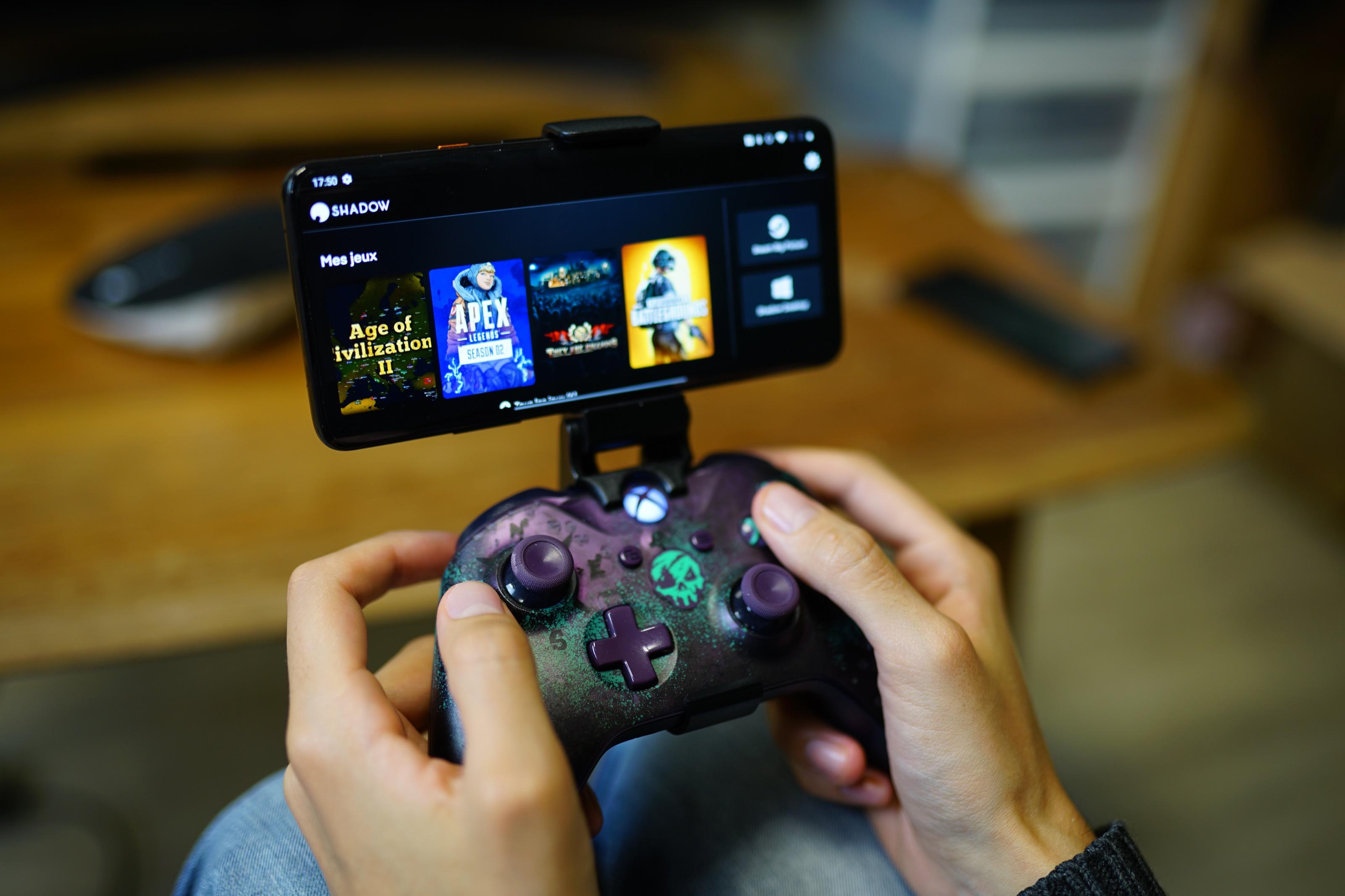 Shadow propose une interface simplifiée sur Android pour accéder à ses jeux