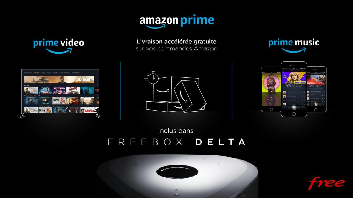 freebox delta l 39 abonnement amazon prime est inclus avec tous ses bonus frandroid. Black Bedroom Furniture Sets. Home Design Ideas