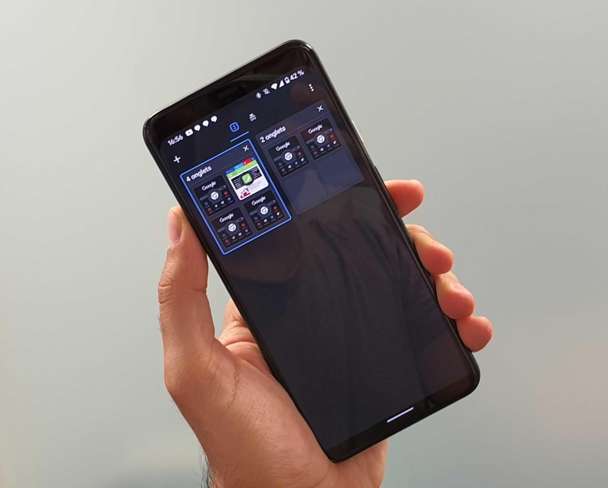 Le mode sombre et le nouvel affichage des onglets sur Chrome Android
