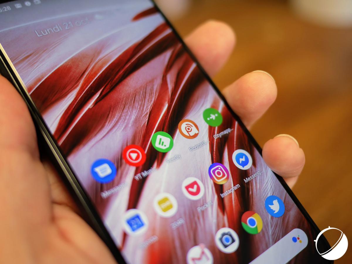 L'écran du Google Pixel 4