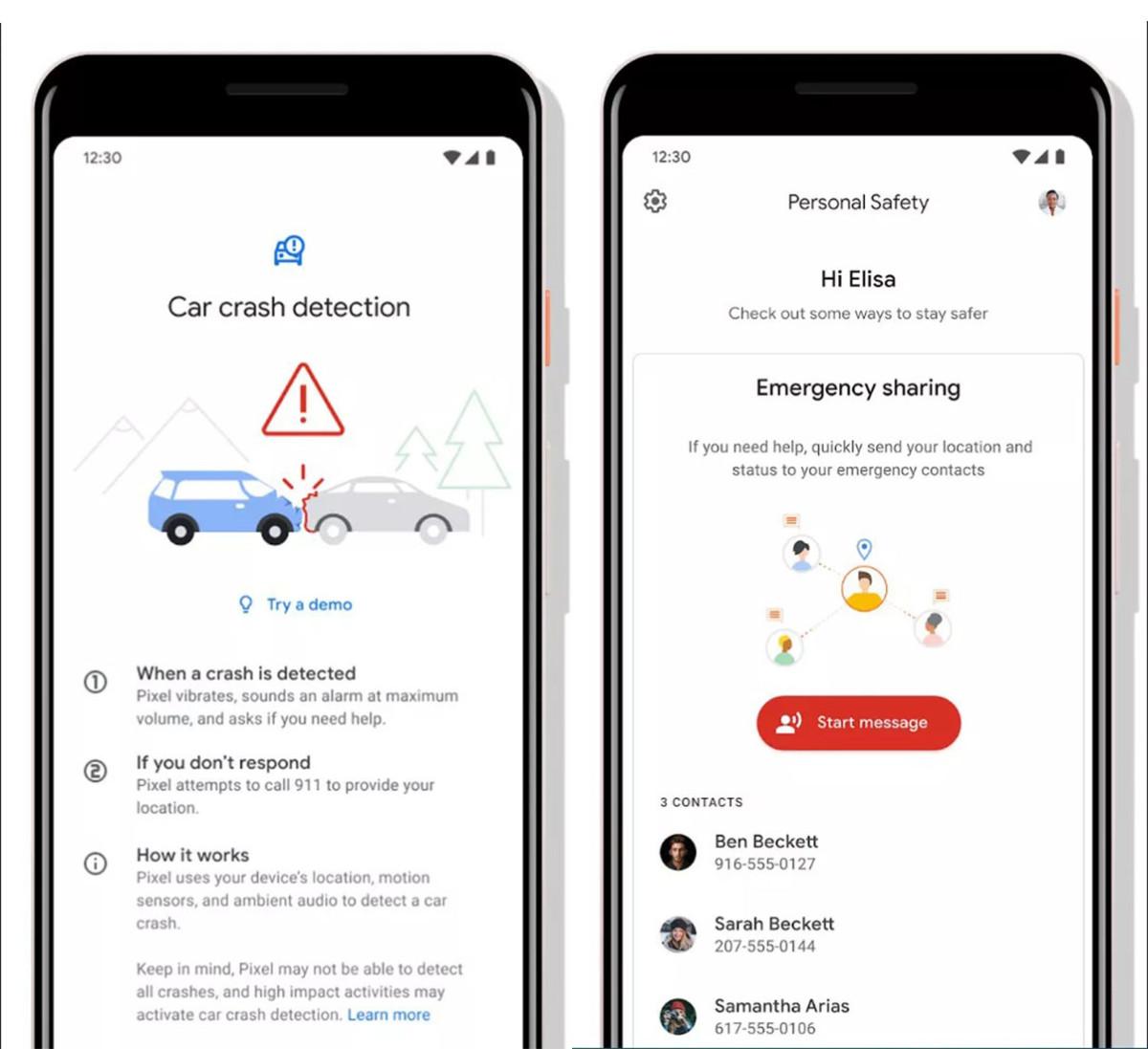 Google prépare une application Personal Safety capable de savoir quand l'utilisateur subit un accident de voiture et qui peut appeler les urgences en cas de danger. Le service devrait sans doute apparaître en même temps que les Pixel 4 et Pixel 4 XL.