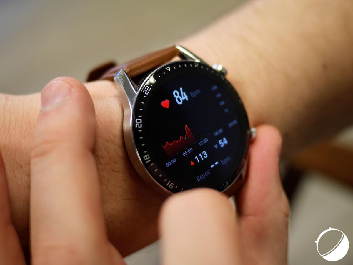 Analyse de la fréquence cardiaque sur Huawei Watch GT2