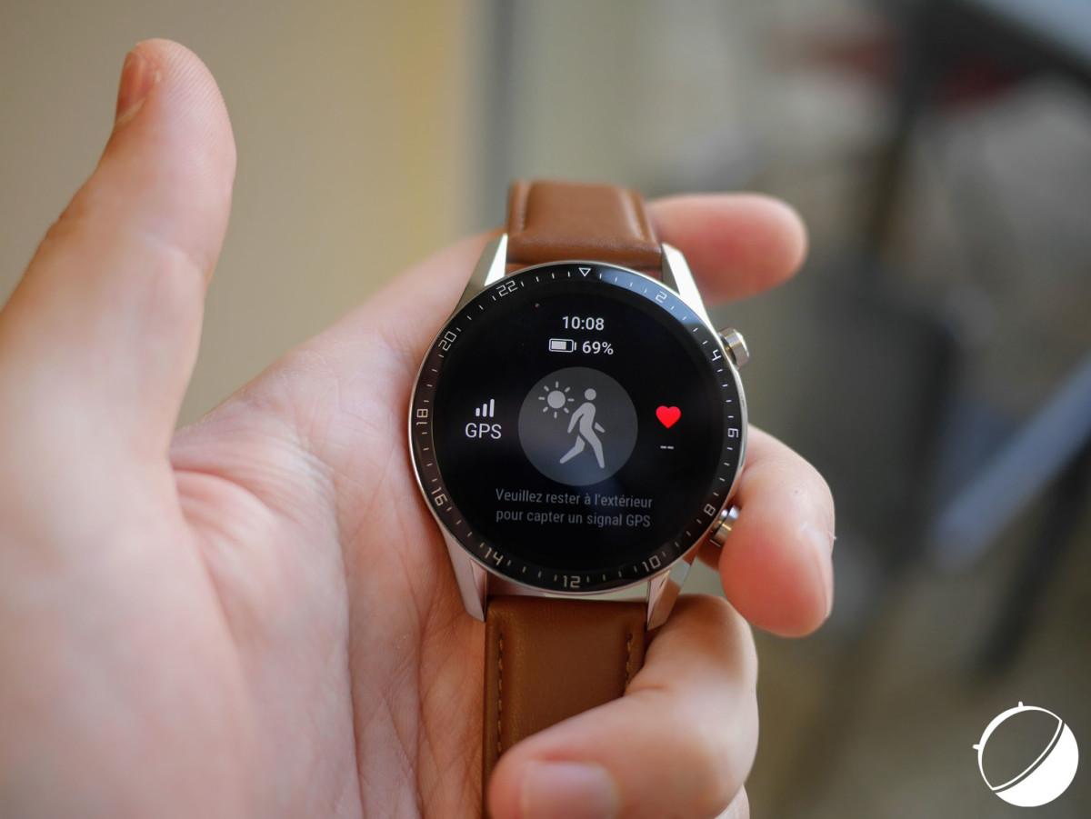 L'accroche GPS sur la Huawei Watch GT 2